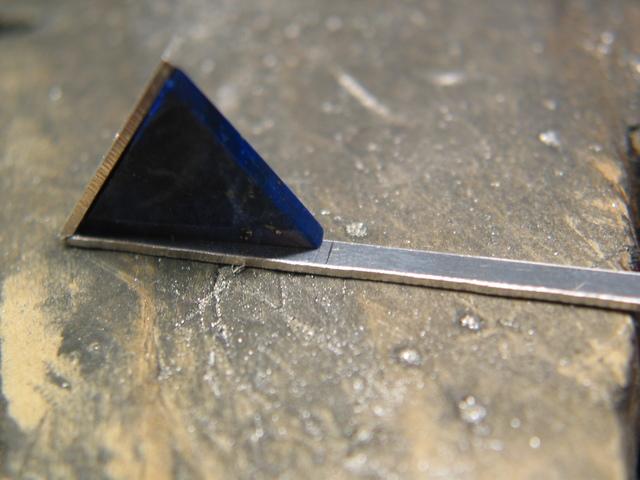 Svs hanger zilveren driehoeken met lapis lazulli - De goede hoek tele ...